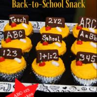 Back to School Lunch Ideas ABC 123 Cupcakes lizbushong.com