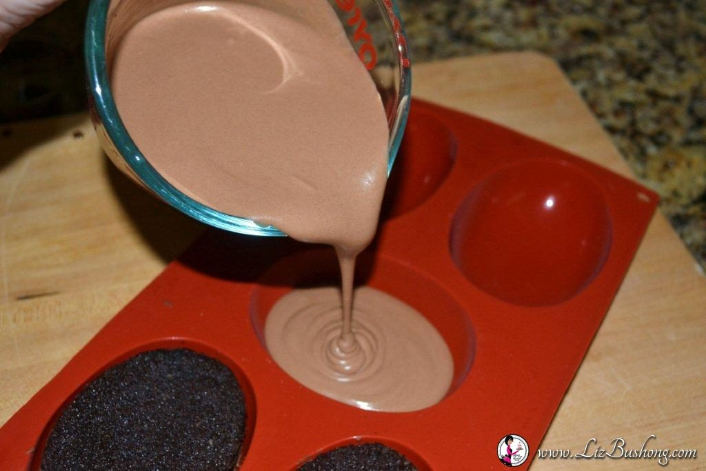 Chocolate Mousse Brownie Cake molding mousse /www.lizbushong.com