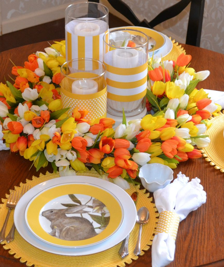 Bunny Tales, Tulips and Treats Tablescape/www.serveitupsassy.com
