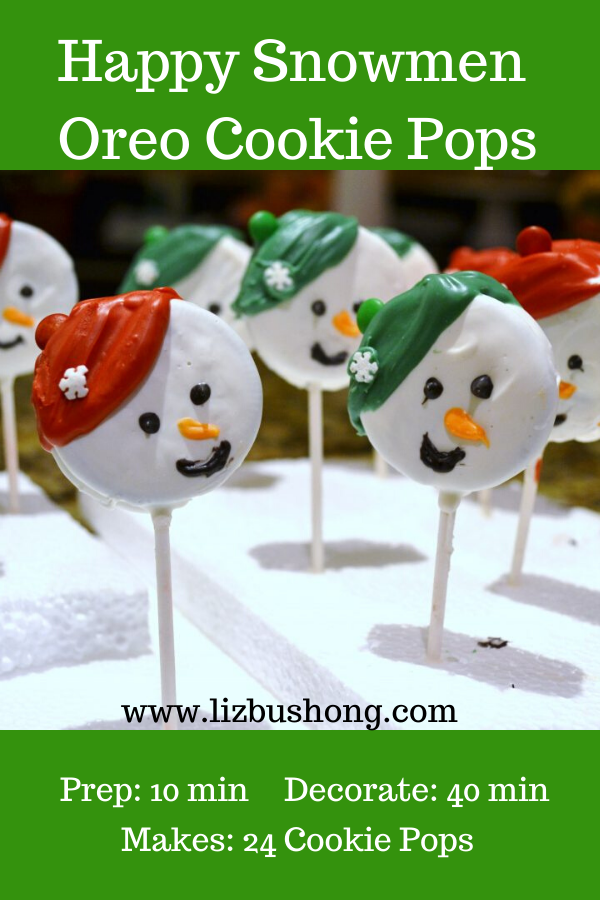 Happy Snowmen Oreo Cookie Pops