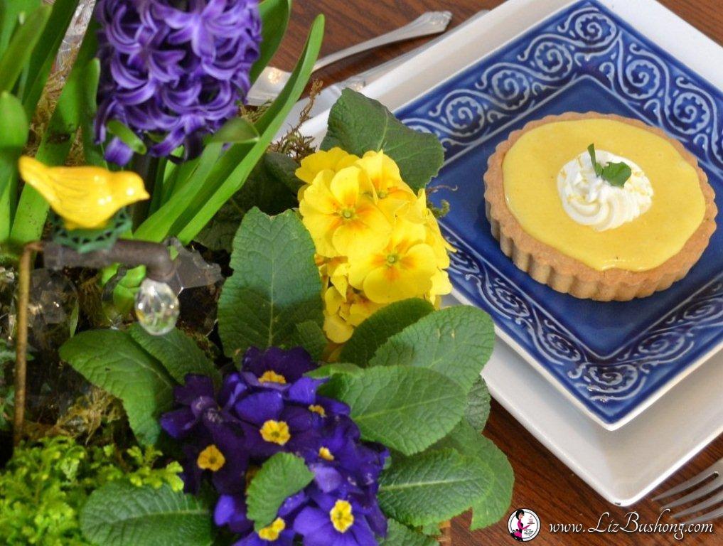 Lemon Almond Tart=www.lizbushong.com