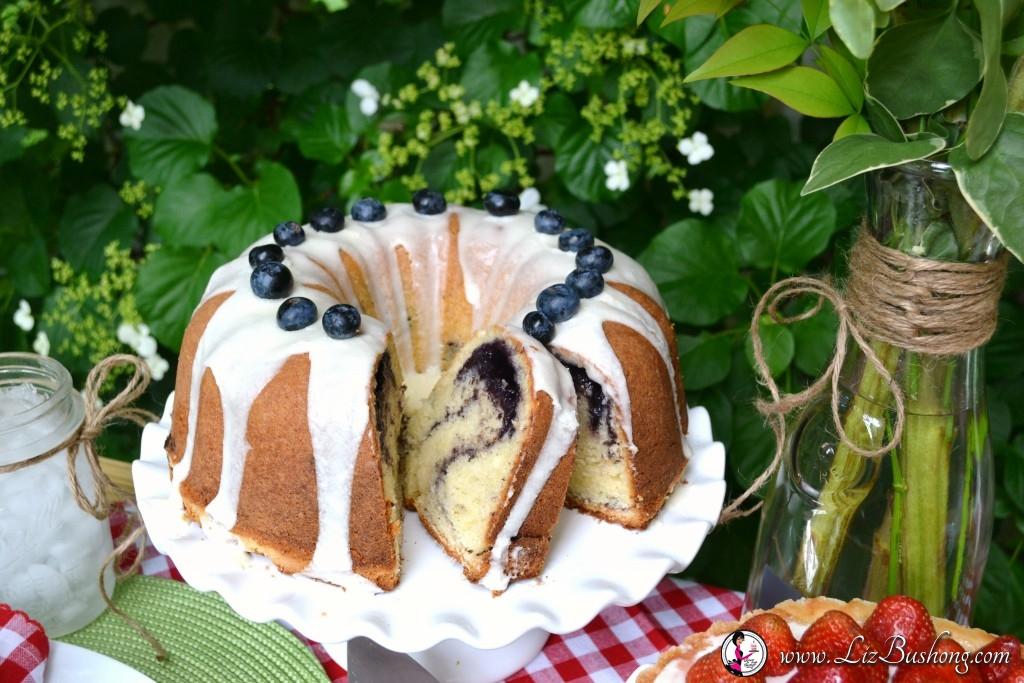 Blueberry Swirl pound cake-www.lizbushong.,com