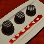 Chocolate Houndstooth Mini Cakes-Valentines Day Dessert www.lizbushong.com