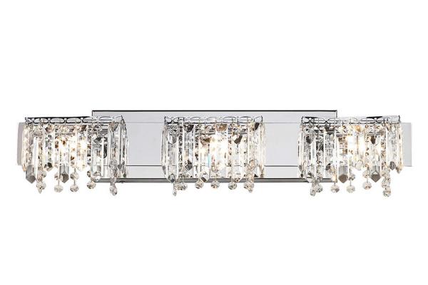Chrome & Crystal Bath Bar Light-lizbushong.com