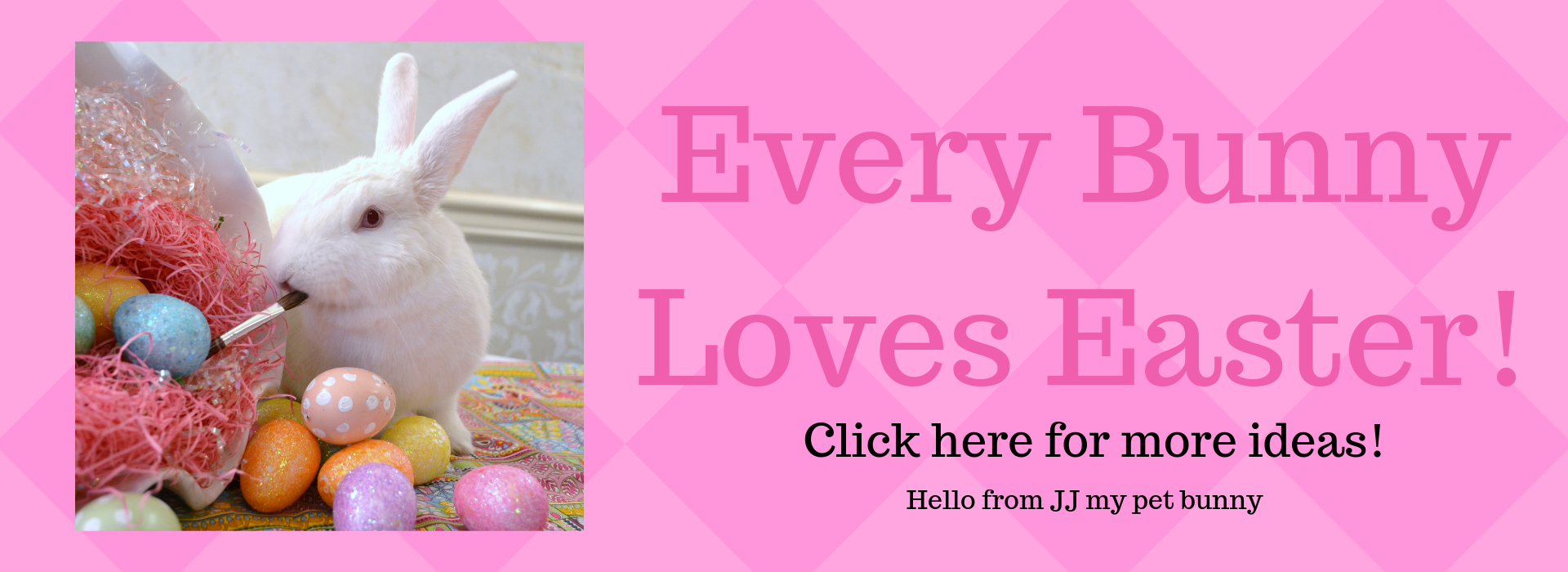 Every Bunny Loves Easter- Banner- lizbushong .com
