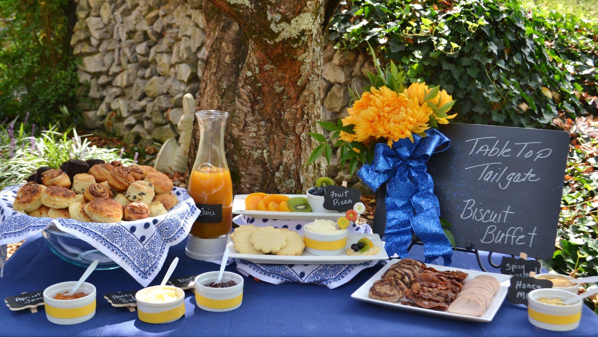 Blue & Gold Tabletop Tailgate-lizbushong.com