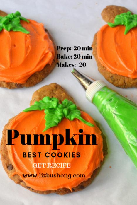 Frosted Giant Pumpkin cookies lizbushong.com