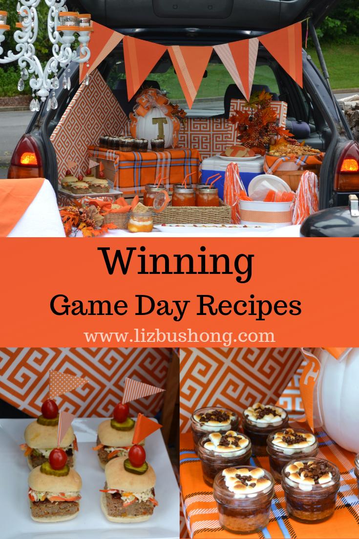 Game Day Recipes. lizbushong.compng