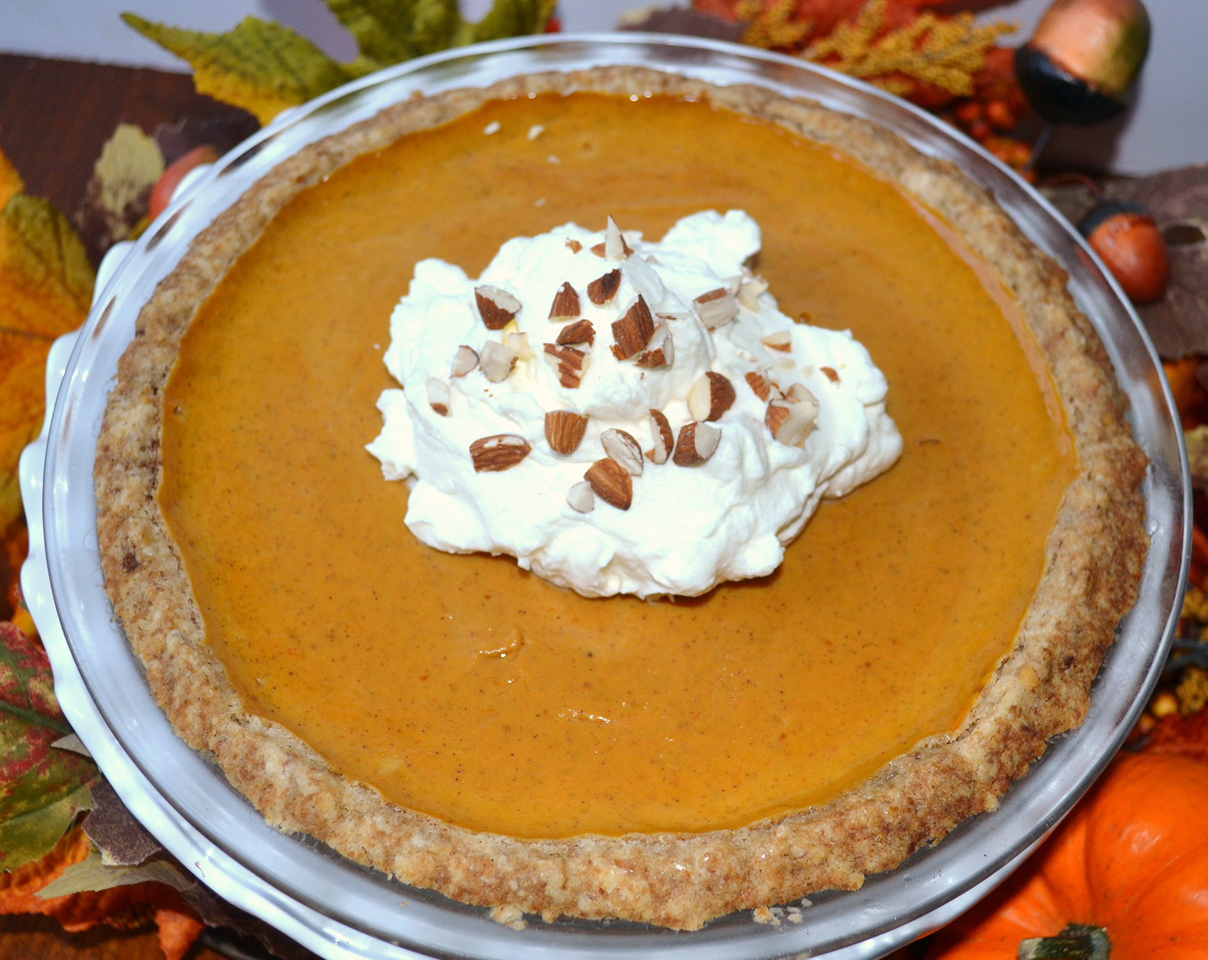 pumpkin pie in spice nut crust, lizbushong.com