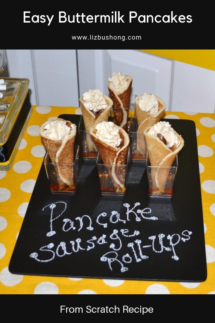 Buttermilk Scratch Pancakes lizbushong.com