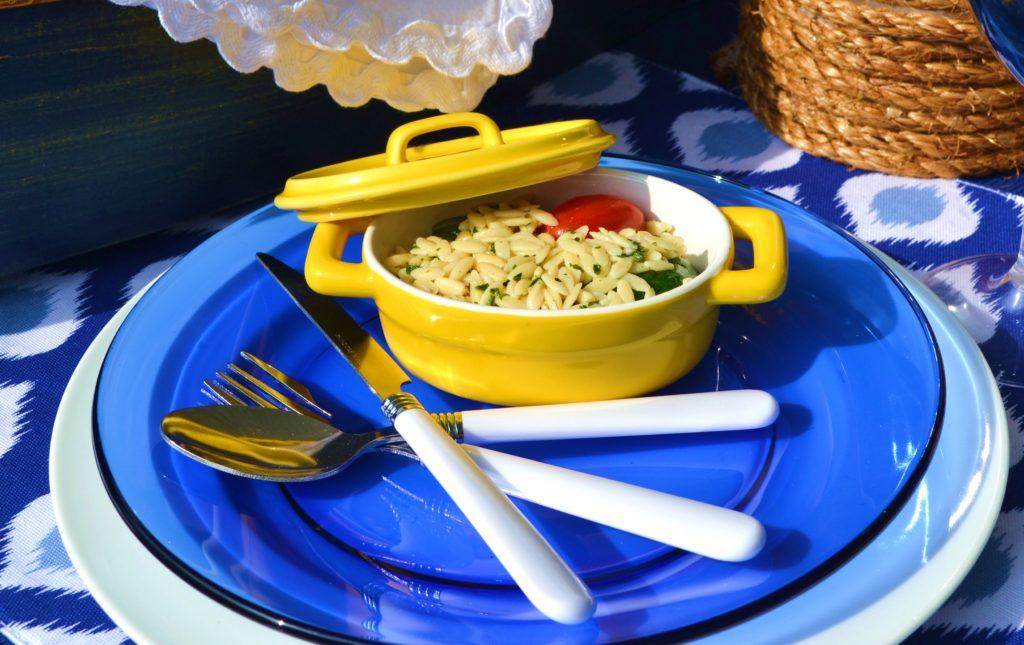 Lemon Spinach Orzo Salad