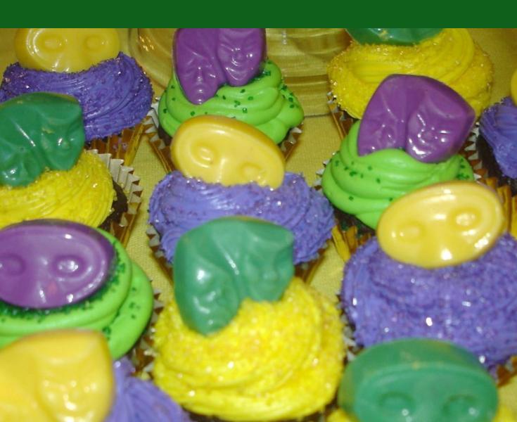 Mardi Gras Mocha Cupcakes- Lizbushong.com