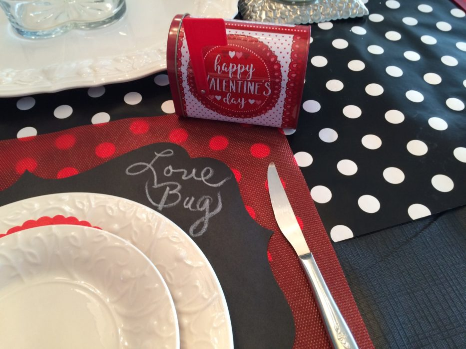 Marie's valentine placesetting