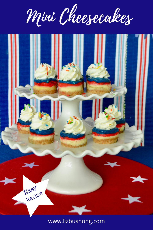 How to make mini red, white, blue cheesecakes lizbushong.com