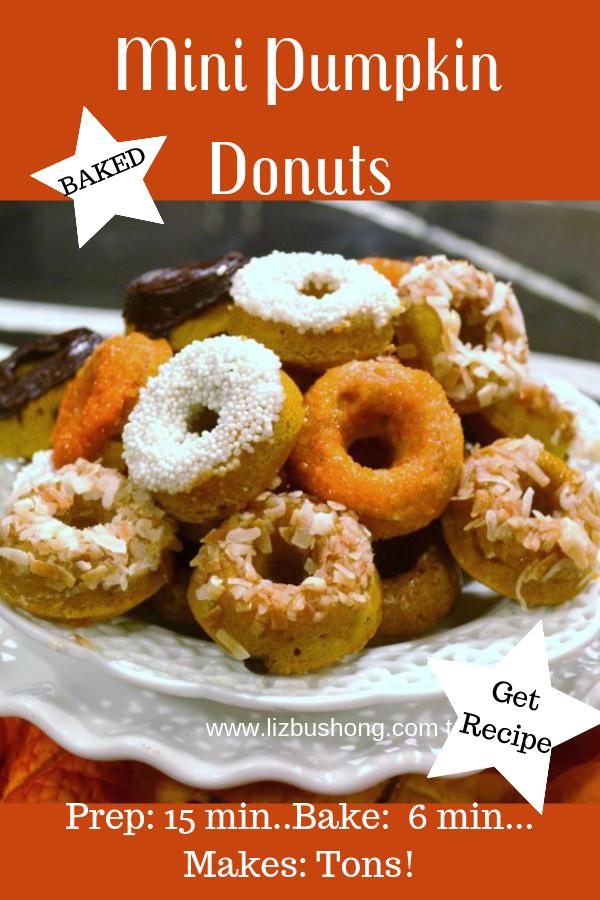 Mini Pumpkin Donuts