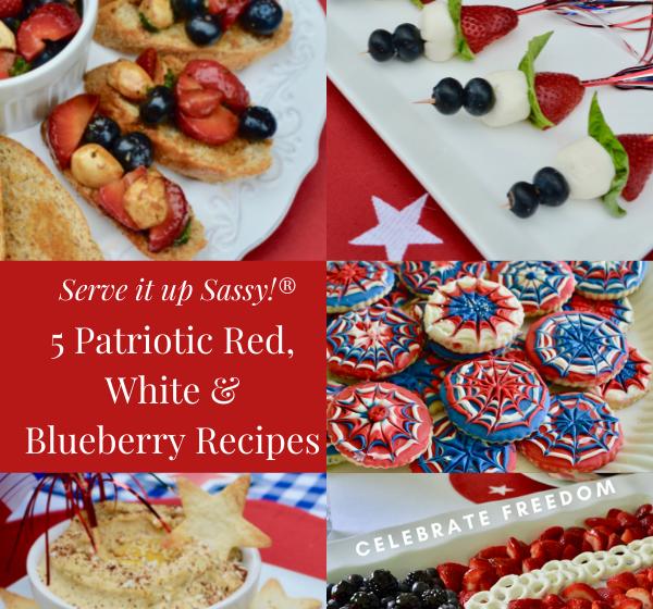 How to make patriotic red, white blueberry recipes lizbushong.com