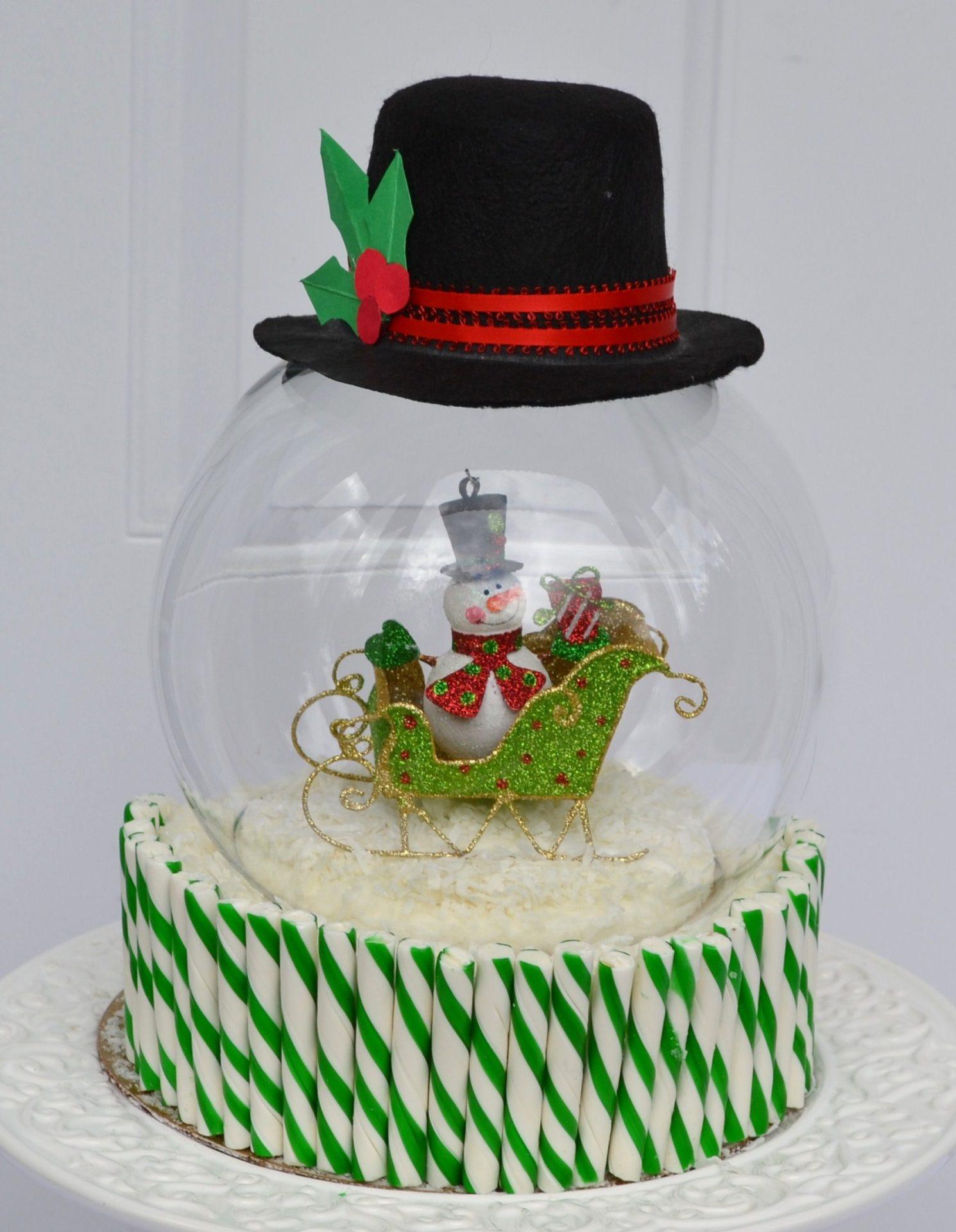 How to Make Snowglobe cake lizbushong.com