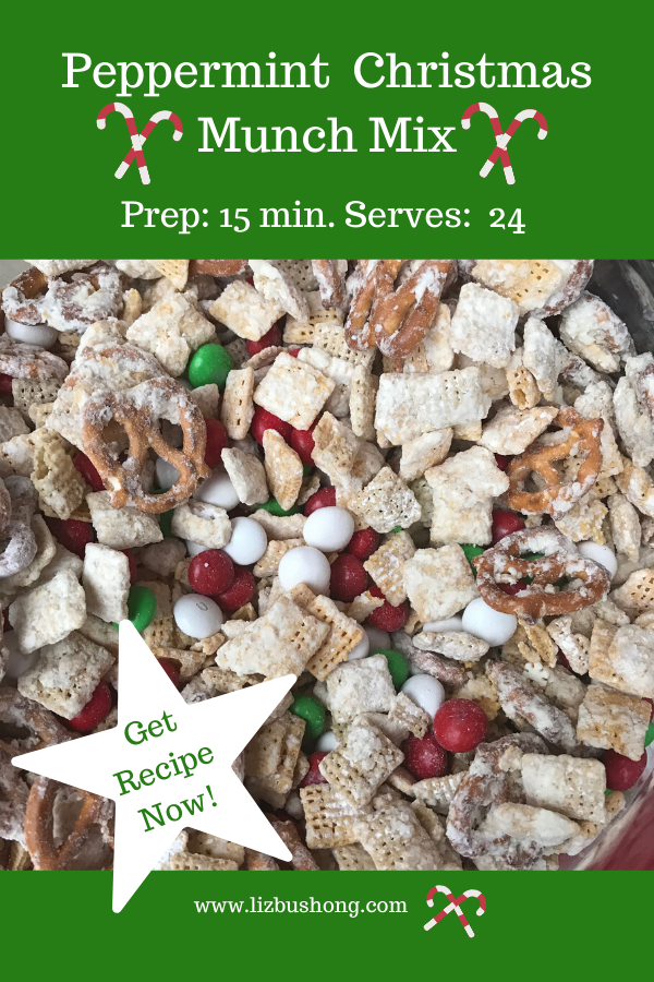 Peppermint Christmas Munch Mix Recipe