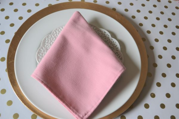 Arrow Dart Napkin-Final Fold-Best Pink and Gold tablesetting-lizbushong.com