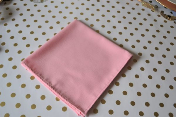Arrow Dart Napkin-step 1 Fold-Best Pink and Gold tablesetting-lizbushong.com
