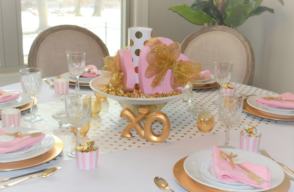 Best Pink and Gold Tablesetting-lizbushong.com