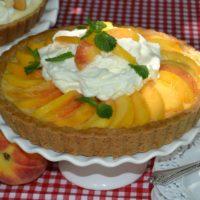 Peach Cream Pie Recipe lizbushong.com