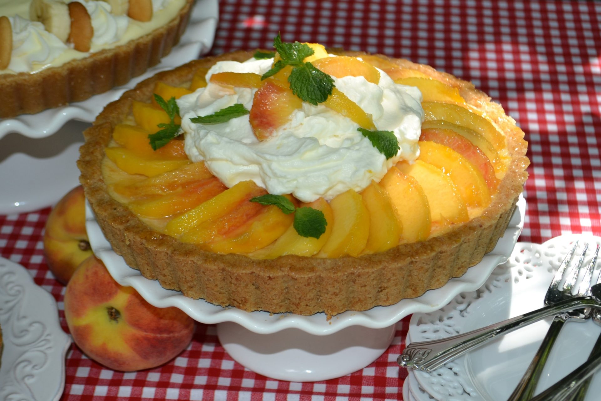 Peach Cream Pie Recipe lizbushong.com