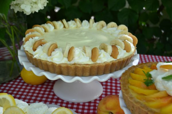 Slice of Summer Pies- Caramel Banana Cream Pie Recipe lizbushong.com