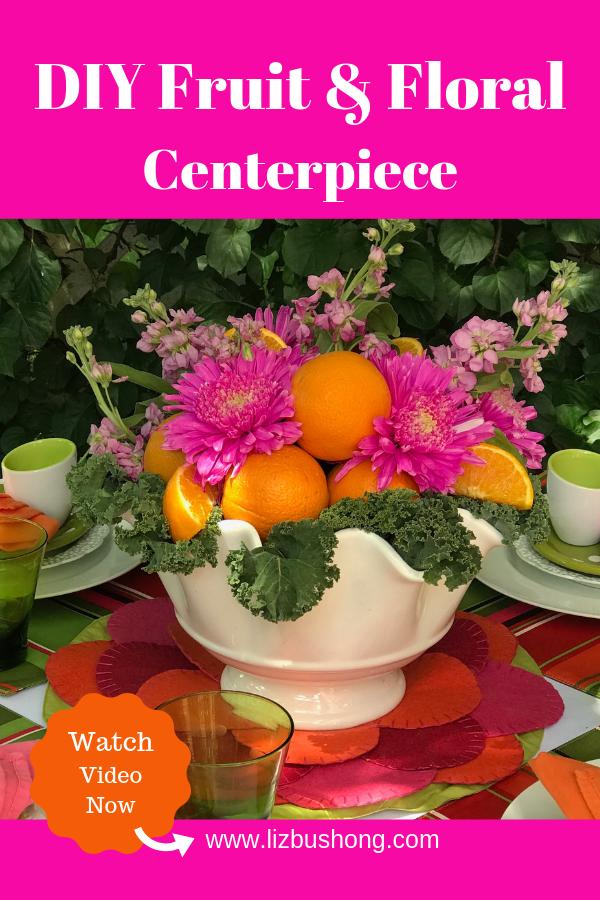 DIY Fruit & Floral Centerpiece