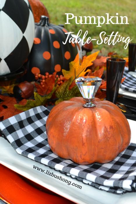 Create a pretty Pumpkin Placesetting DIY lizbushong.com