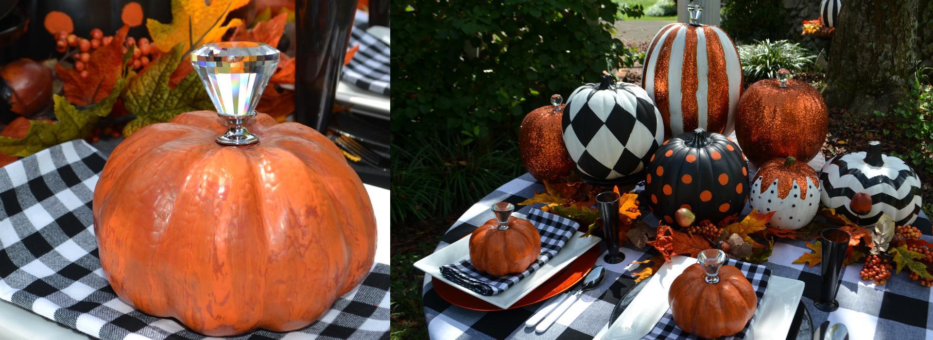 Slider- black and white pumpkin setting lizbushong.com