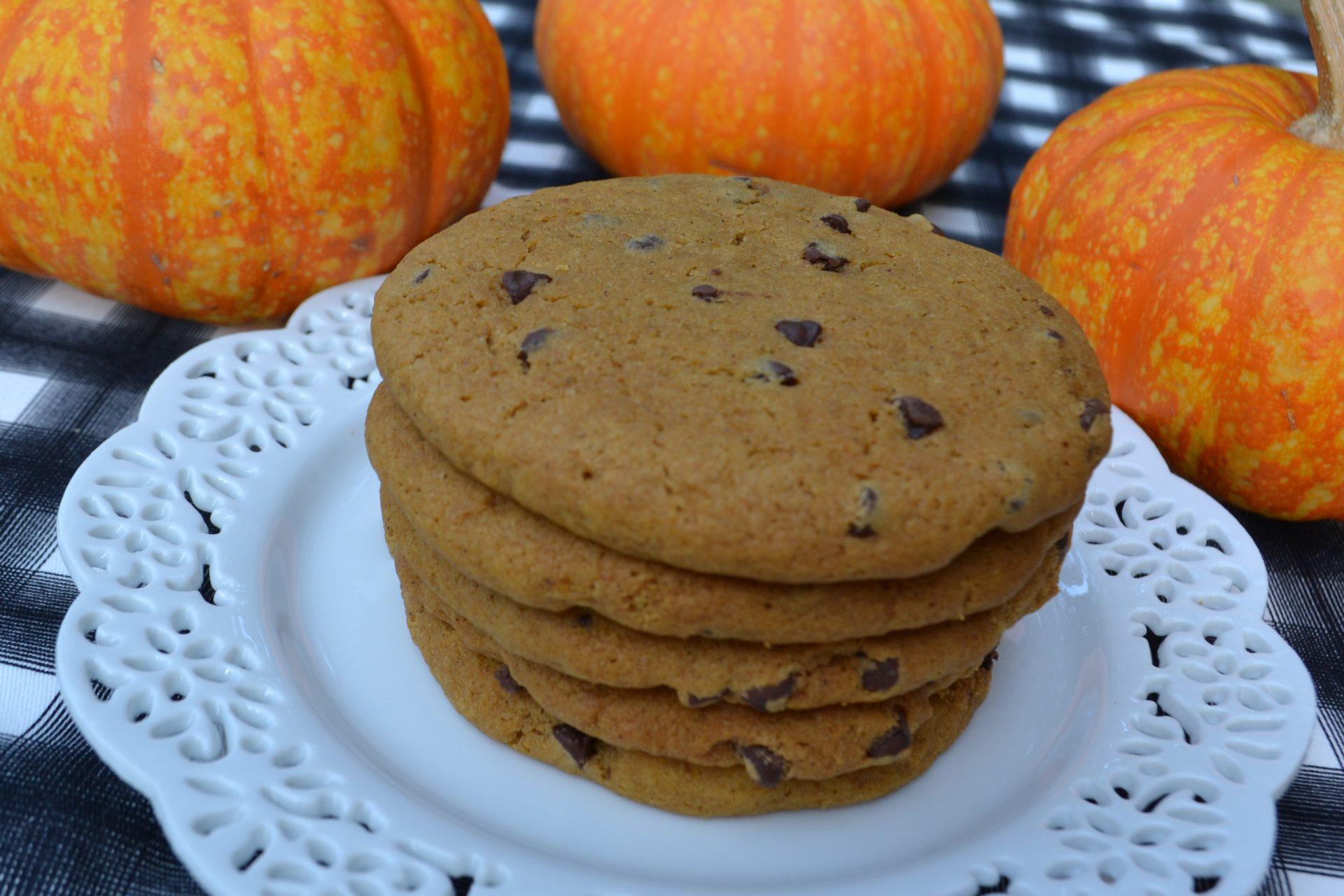 Soft Pumpkin Chocolate Chip Cookies- 1 A lizbushong.com