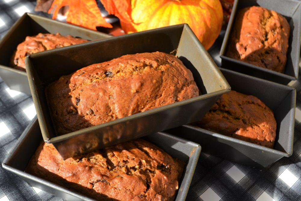 Pumpkin Bread Loaves lizbushong.com