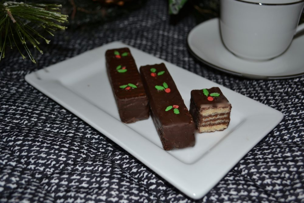 Chocolate Covered Wafer Cookies