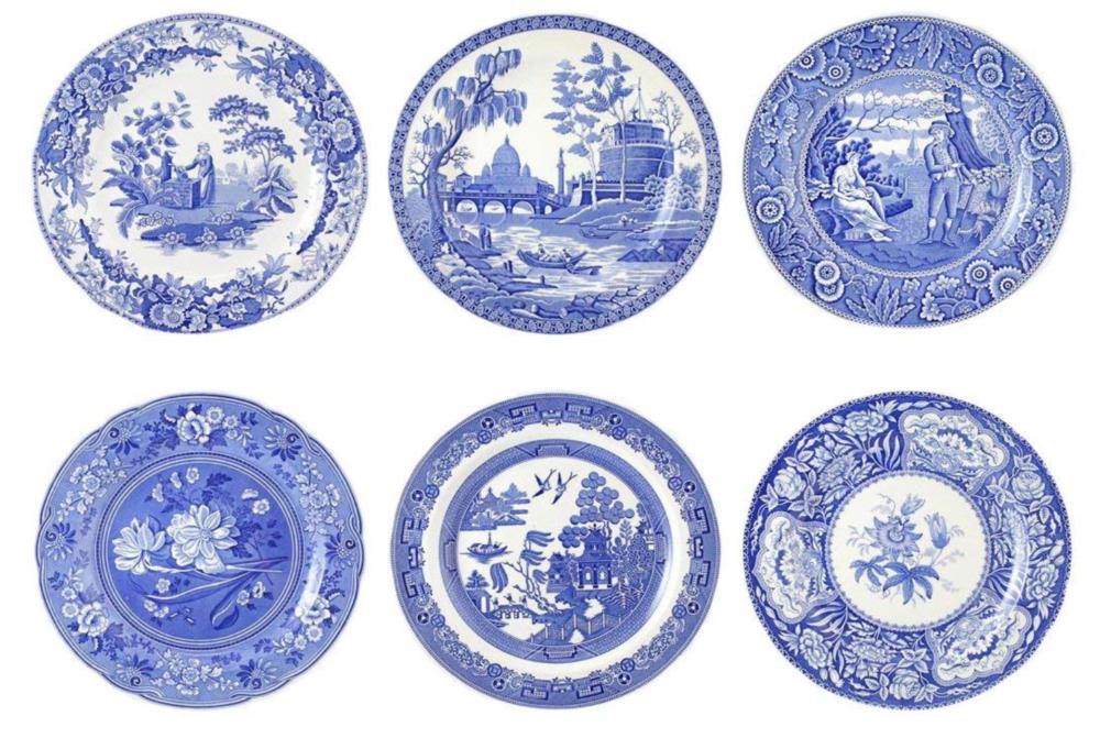 Blue Salad plates- lizbushong.com