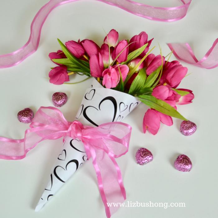 Floral Cone Bouquet lizbushong.com copy