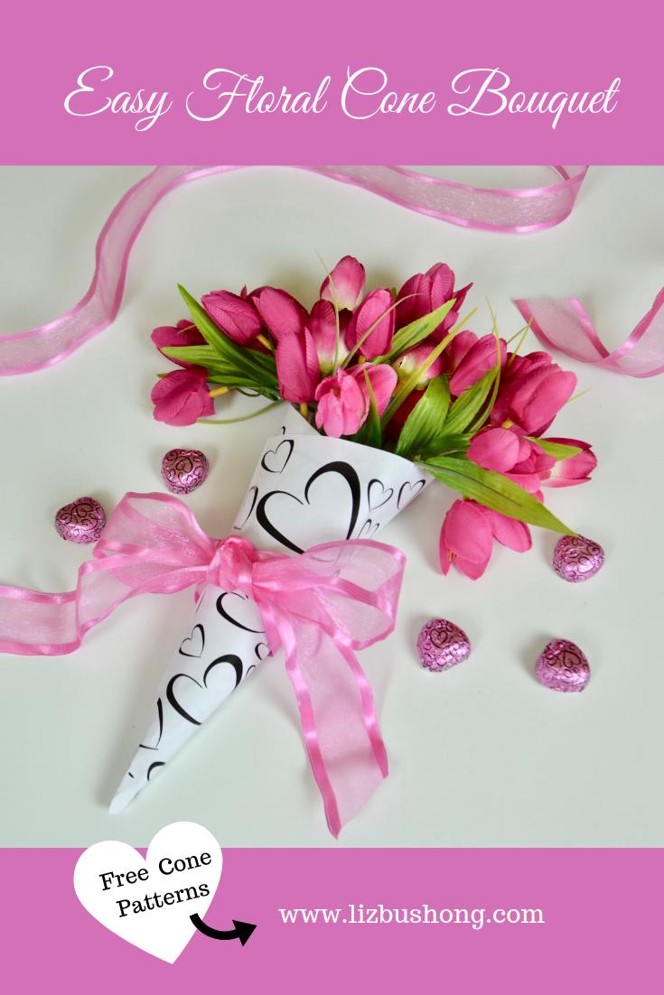 Floral Cone Bouquet lizbushong.com