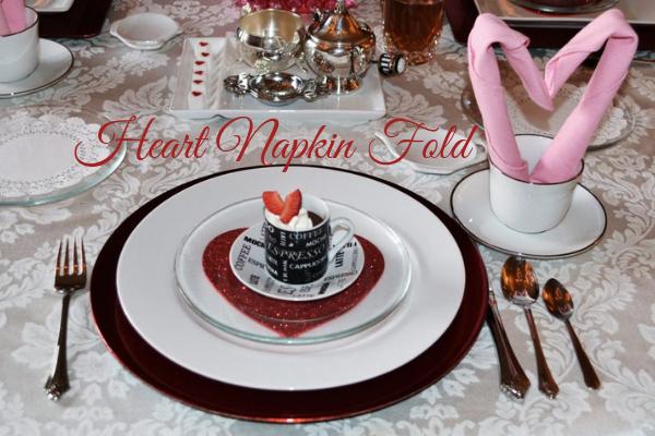 Heart Napkin Fold lizbushong.com
