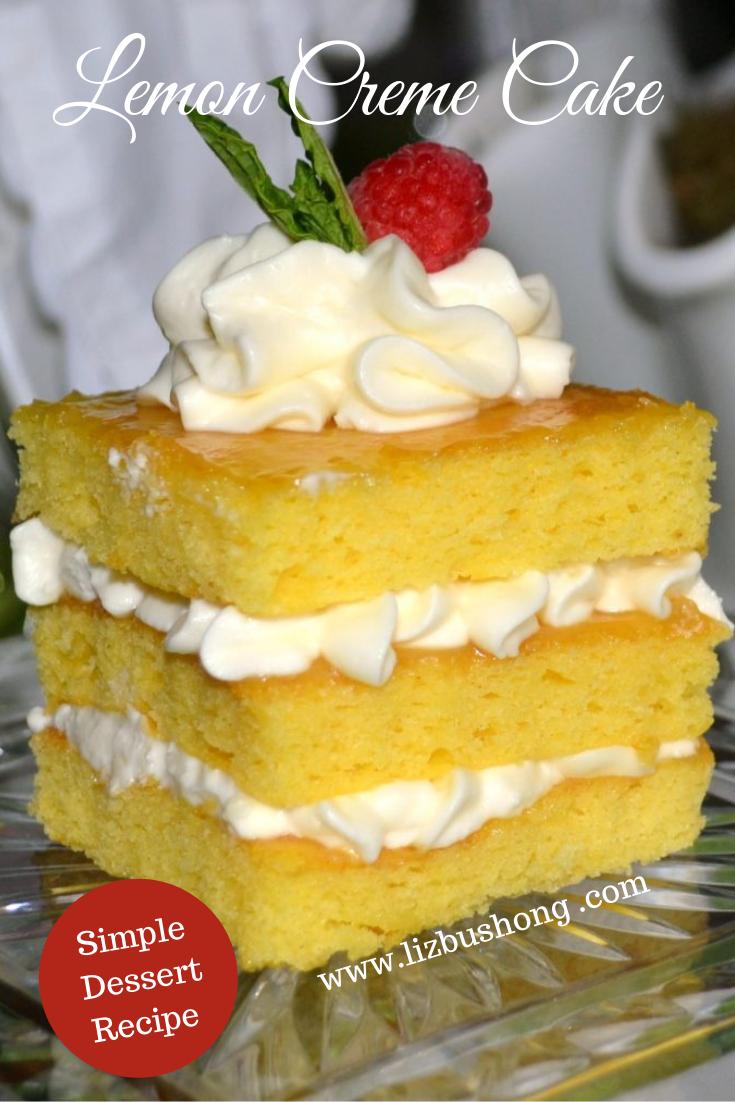 Lemon Creme Cake-lizbushong.com