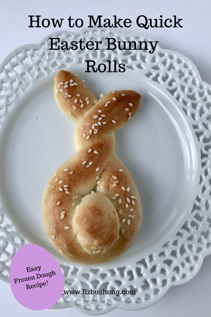 Quick Easter Bunny Shaped Rolls Liz Bushong