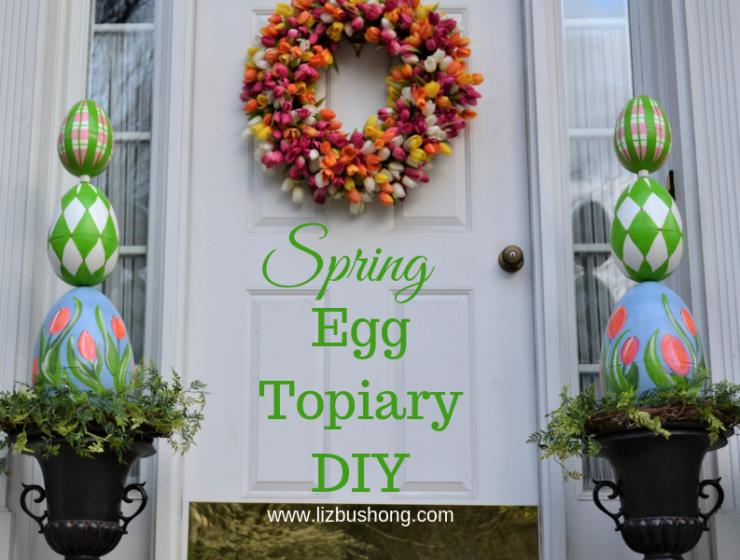Spring Egg Topiary DIY- lizbushong.com