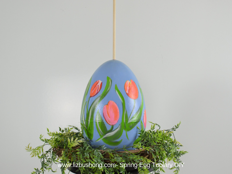 Spring Egg Topiary Diy- one egg- lizbushong.com