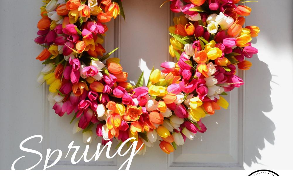 SpringTulip Wreath DIY lizbushong.com png