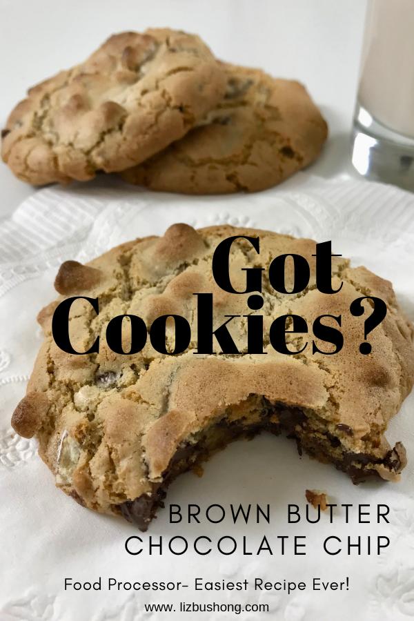 Brown Butter Chocolate Chip Cookies lizbushong.com