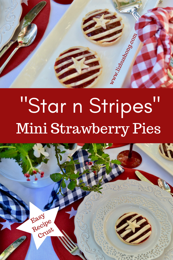 Mini Strawberry Pies-Stars n Stripes lizbushong.com