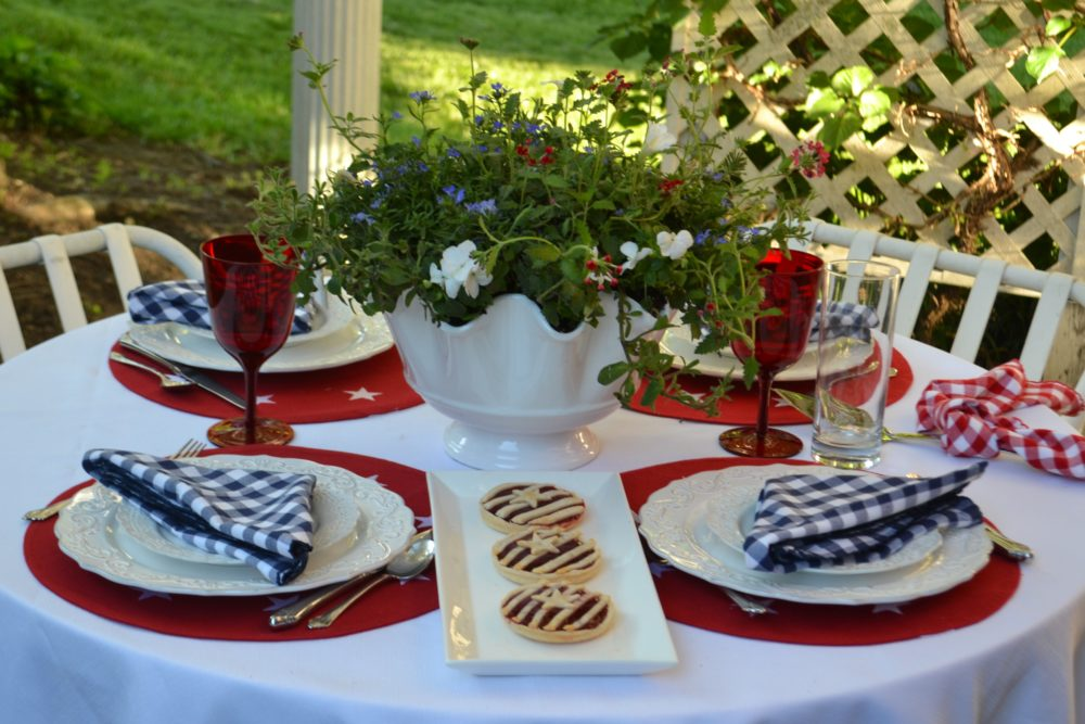 Red, White, Blue Stars n Stripes Tablescape 2-lizbushong.com-