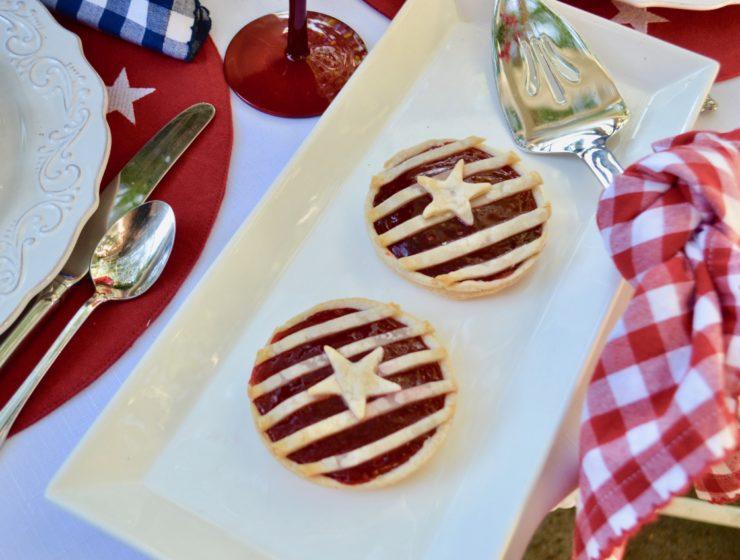 Stars n Stripes Red white and blue dessert- lizbushong.com