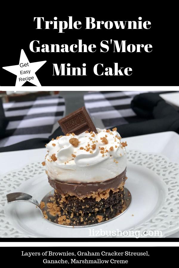 Triple Brownie Ganache S'mpre Mini Cake-lizbushong.com