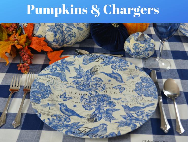 How to Decoupage Pumpkins & Chargers lizbushong.com