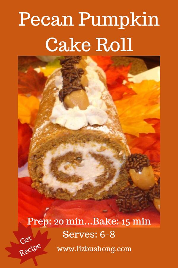 Pecan Pumpkin Cake Roll